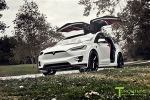 2016 Pearl White Tesla Model X – Ludicrous – Bentley Red Interior – Gloss Carbon — luxury ...