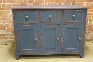 Rustic painted server cabinet - ECustomFinishes