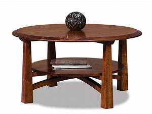 wood coffee tables mission style amish coffee table With round mission style coffee table