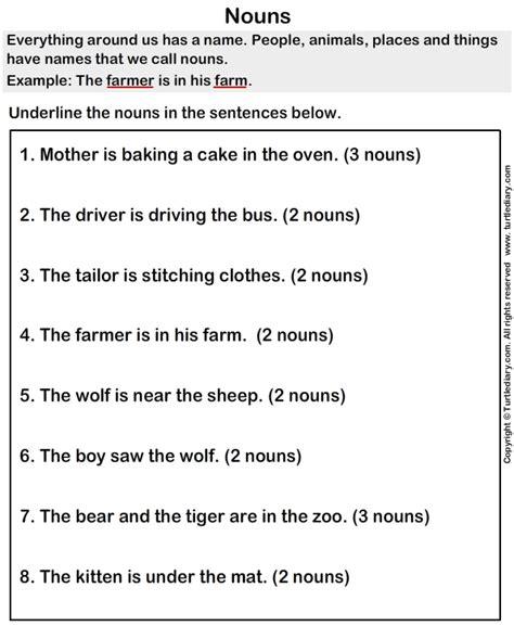 all worksheets 187 noun worksheets year 1 printable