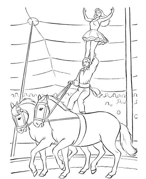 Kleurplaat Circuspaard by N 39 Kleurplaten Circus