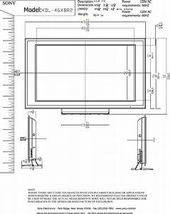 Sony Kdl 46xbr2 Actual Tokyo Cad Layout1 User Manual