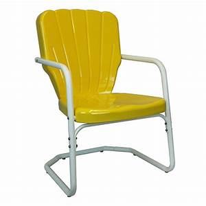 Thunderbird retro 195039s retro metal lawn chair with heavy for 1950s metal patio chairs