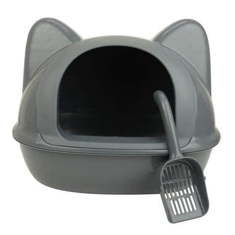 maison de toilette chat maison de toilette liti 232 re t 234 te de chat grise achat vente maison de toilette maison de