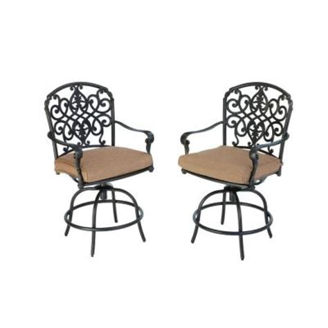 hton bay edington 2013 swivel patio high dining chair