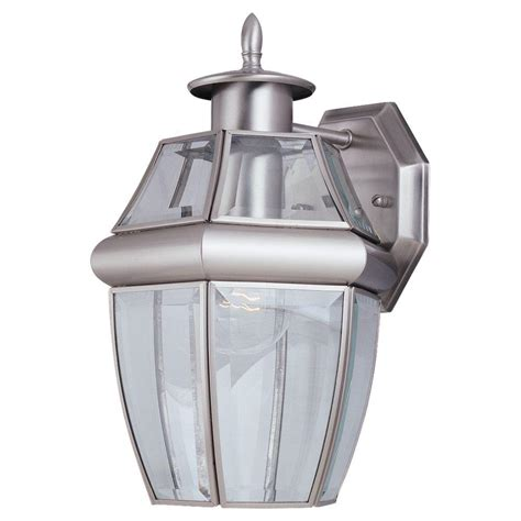 lighting heritage 1 light brushed nickel outdoor