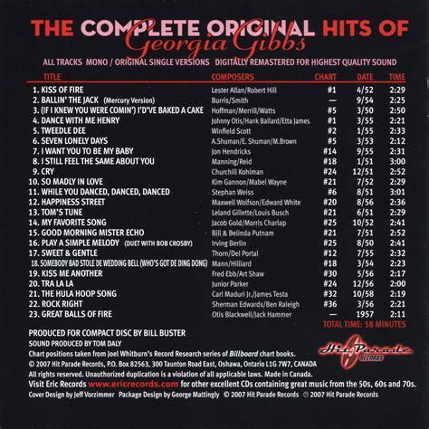 complete original hits  georgia gibbs georgia