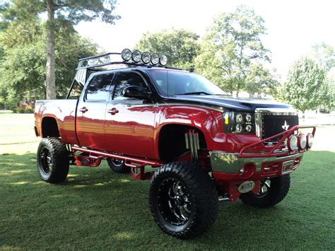 gmc  duramax lifted truck  road wheels