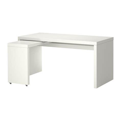 bureau avec tablette coulissante malm bureau avec tablette coulissante blanc ikea