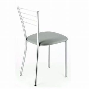 Magasin De Chaises : chaise de cuisine en m tal roma 4 pieds tables chaises et tabourets ~ Teatrodelosmanantiales.com Idées de Décoration