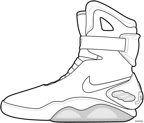 Coloring Nike Air 1 by Nike Air 1 Drawing At Getdrawings Free For