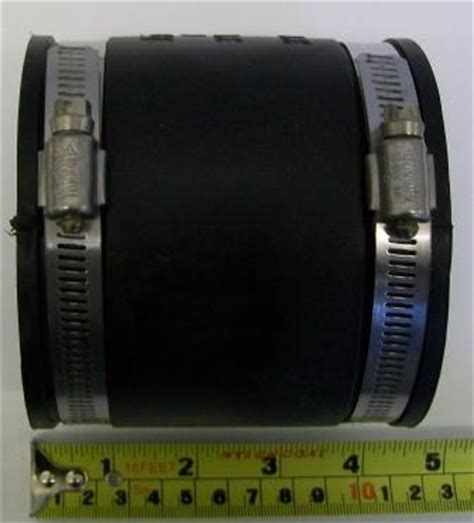 rubber   soil waste pipe connector mm  mm