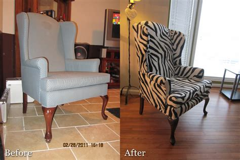 diy recovering  wingback chair