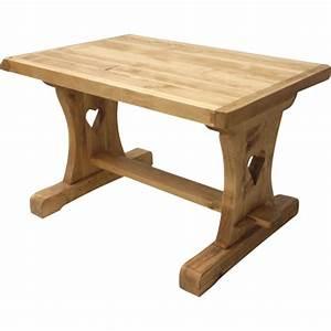 Table En Bois Massif Ancienne : table monast re coeur sans allonge ~ Teatrodelosmanantiales.com Idées de Décoration