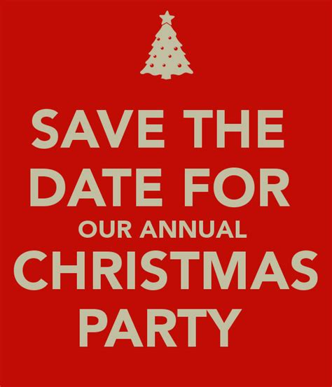 save the date for our annual christmas party poster ryan