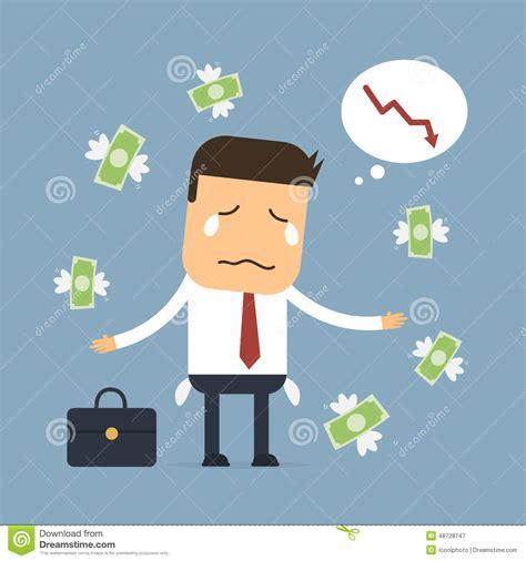 Businessman Loss Money,Vector Cartoon Concept Abstract