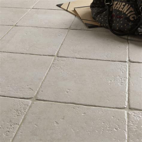 carrelage sol et mur blanc effet toscane l 32 5 x l 32 5 cm leroy merlin