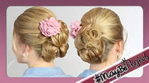 Hochsteckfrisuren Lange Glatte Haare by Leichte Hochsteckfrisur Für Mittel Lange Haare Maybeperfect