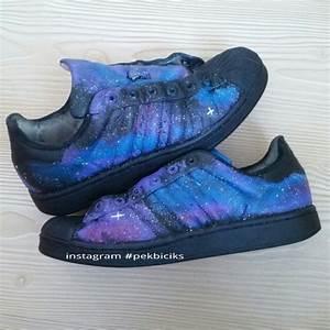 Adidas superstar - Galaxy handpainted shoes | Custom Shoes ...