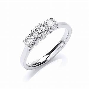 white gold three stone engagement rings wedding promise With 3 stone wedding ring