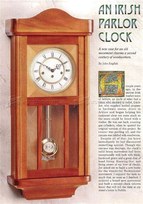 Free Wood Gear Clock Plan