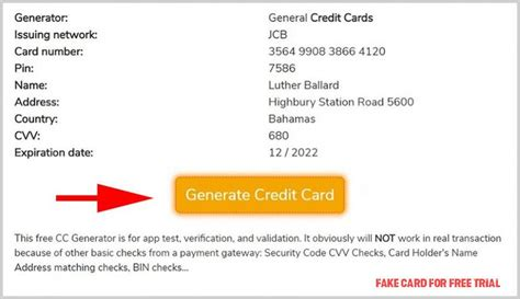 The credit card can be useful to allow people make big or bulk purchase. One Checklist That You Should Keep In Mind Before Attending Fake Card For Free Trial | fake card ...