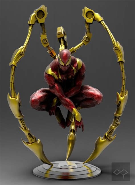 Artstation  Iron Spiderman , Jem Gonzales