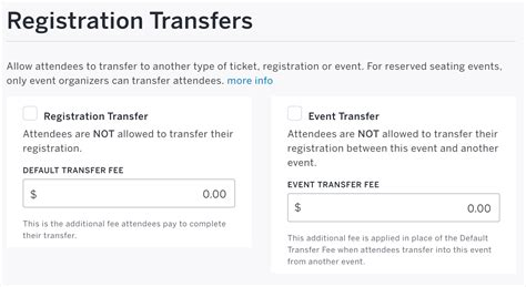 How To Turn Off Registration/ticket Transfers