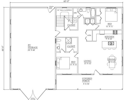 The main floor is completely open and doesn't have any interior walls taking an open concept to the extreme. RV Garage Kit w 2 Bedroom 2 Bath Apartment and Storage ...