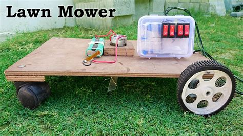 How To Make A Lawn Mower / Grass Cutter At Home