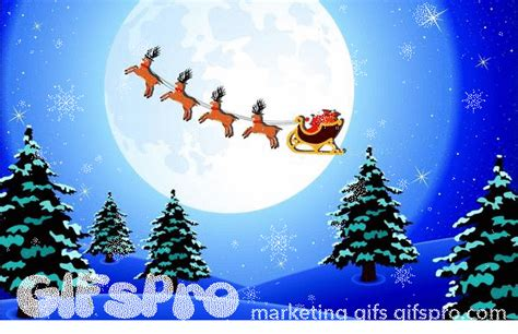 Animated Santa Wallpaper - gifs of background with santa gifspro