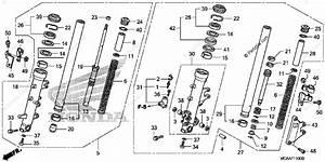 Honda Motorcycle 2006 Oem Parts Diagram For Front Fork