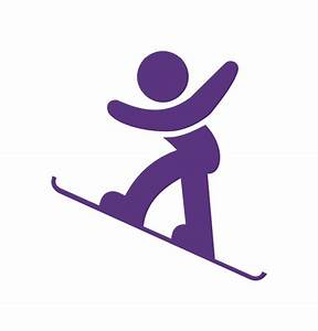 Snowboard - Winter sports pictograms