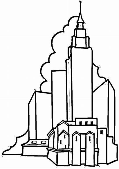 Building Empire State Coloring York Drawing Colorare
