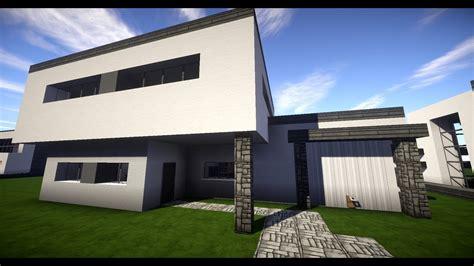 Minecraft Modernes Haus Mit Garage Bauen 11x19 Tutorial