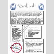 Mental Health  Esl Worksheet By Debbiecampbell