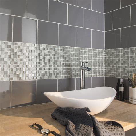 faience cuisine grise faïence mur gris galet astuce l 20 x l 20 cm leroy merlin
