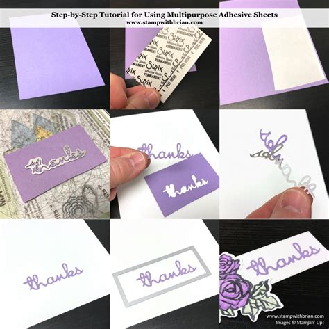 tips   multipurpose adhesive sheets simple cards