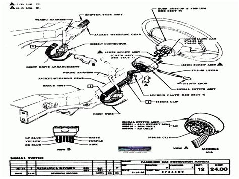 57 Chevy Turn Signal Wiring Diagram by 1956 Chevy Steering Column Wiring Diagram Wiring Forums