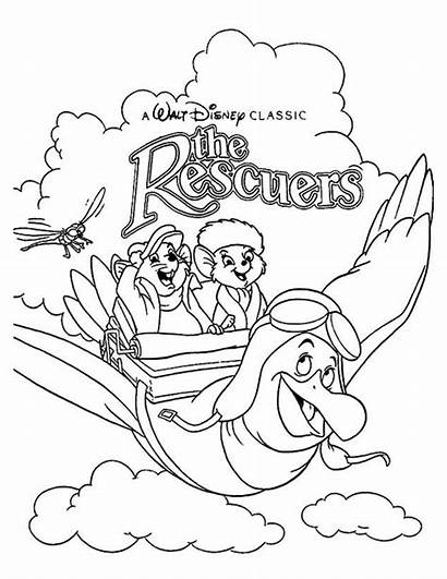 Coloring Disney Pages Rescuers Covers Colouring Cartoon