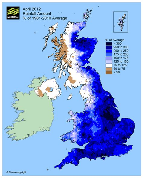 range weather forcast for uk april 2012 met office