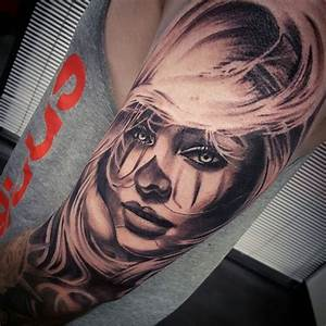 Chicano clown girl tattoo by @vesnavtattoos | Tattoos ...