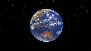 HD 1080 - Planet Earth Rotates On Black Background ...