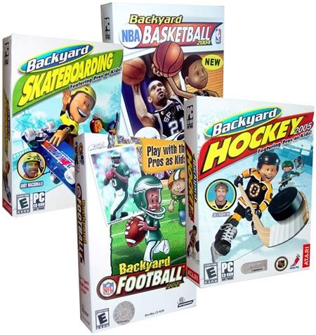 Backyard Football Pc by New Backyard Basketball Hockey Football Pc 4 Lot