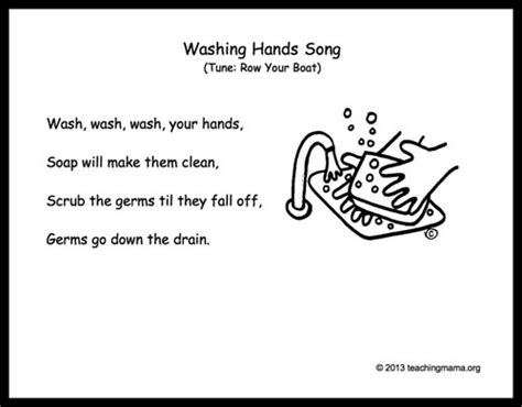 handwashing activities for free songs and lessons 208 | Washing Hands Song from Teaching Mama