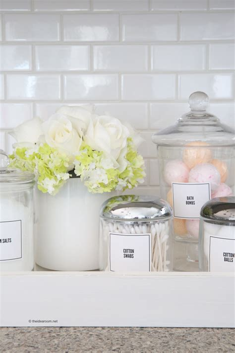 bathroom organization labels  idea room