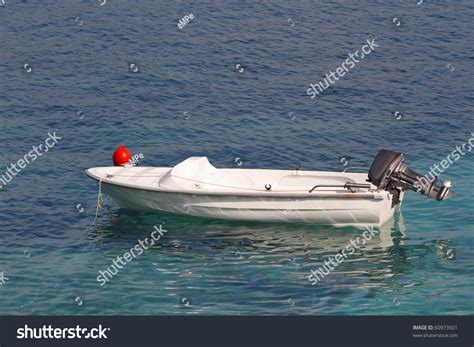 Motor Boat Small by Small Motor Boat On Silent Sea Stock Photo 60973501