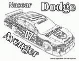 Coloring Coloriage Nascar Voiture Race Cars Course Printable Imprimer Kleurplaat Avenger Dodge Raceauto Children Colorier Dessin Voitures Sports Gratuit Rally sketch template
