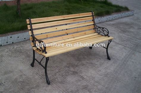 outdoor patio cast iron and wood garden bench buy cast