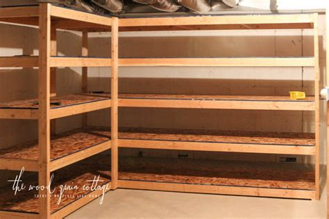 wood storage shelves   build  shelf